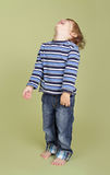 Child Playing Jumping Dancing and Having FUn Royalty Free Stock Photography