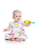 Baby playing musical toy Royalty Free Stock Photo