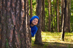 Child playing outdoor Stock Photos