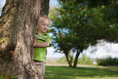 Child Playing Outside Royalty Free Stock Photography