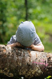 Child playing peekaboo Royalty Free Stock Images