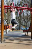 Girl. Child playing on the playground Stock Photo