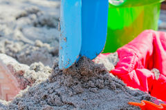 Child playing with sand Stock Photography