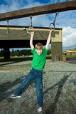 Child playing during school recess Royalty Free Stock Image