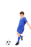 Child playing soccer Royalty Free Stock Images