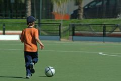 Child playing soccer Royalty Free Stock Photography