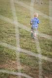 Child Playing Soccer Royalty Free Stock Image