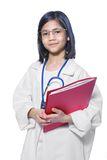 Child playing stern doctor Stock Photography