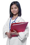 Child playing stern doctor Stock Photo