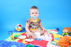 Child playing toys Stock Photography