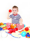 Child playing toys Royalty Free Stock Photos