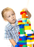 Child playing with toys Royalty Free Stock Photo
