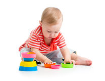 Child playing with toys Royalty Free Stock Image