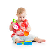 Child playing with toys Royalty Free Stock Photos