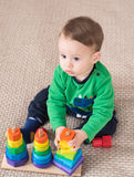 Child playing toys Royalty Free Stock Photo