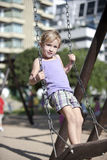Child playing on urban playground Royalty Free Stock Photography