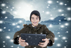 Child playing videogame Stock Images