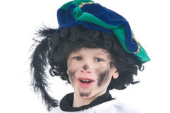 Child playing Zwarte Piet or Black Pete Stock Photos
