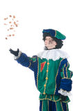 Child playing Zwarte Piet or Black Pete. Young child playing Zwarte Piet (Black Pete), this is a Dutch tradition when Sinterklaas is celebrated in december Stock Photos