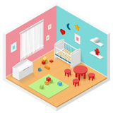 Child playroom isometric icon set Stock Photos