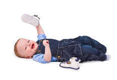 The child plays Royalty Free Stock Photo