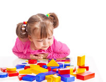 Child plays in developing games Stock Photography