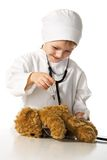 Child plays the doctor Royalty Free Stock Image