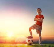 Child plays football. Stock Photography