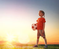 Child plays football. Stock Photos