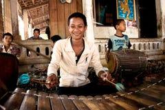 Child Plays Gamelan Instrument Royalty Free Stock Photo