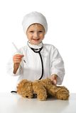 Child Plays The Doctor Stock Image