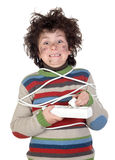 Child plug receiving electric shock Royalty Free Stock Photography