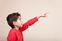 Child pointing Royalty Free Stock Image