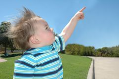 Child pointing Royalty Free Stock Images
