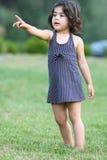 Child pointing Stock Photo