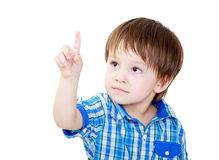 Child pointing Royalty Free Stock Photos
