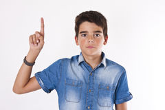 Child pointing isolated Stock Images