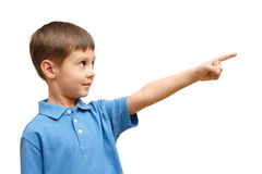 Child points his finger Stock Photos