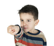 Child points his finger Royalty Free Stock Photography