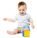 Child points his hand Royalty Free Stock Photos