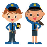 Child, police officer Royalty Free Stock Images