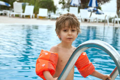 A child in the pool Royalty Free Stock Photography