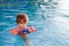 A child in the pool Stock Photos