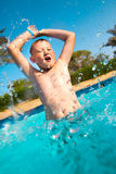 Child in pool Stock Photography