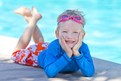 Child by the pool Royalty Free Stock Images
