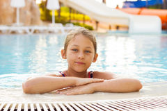 Child in pool Stock Images
