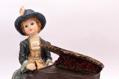 Child Porcelain pianist Royalty Free Stock Images