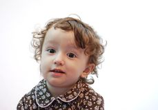 Child portrait. On white background Royalty Free Stock Images