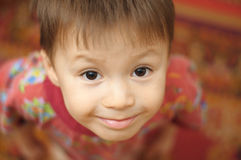 Child portrait from above Royalty Free Stock Images