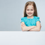 Child portrait in adult business style . stock images